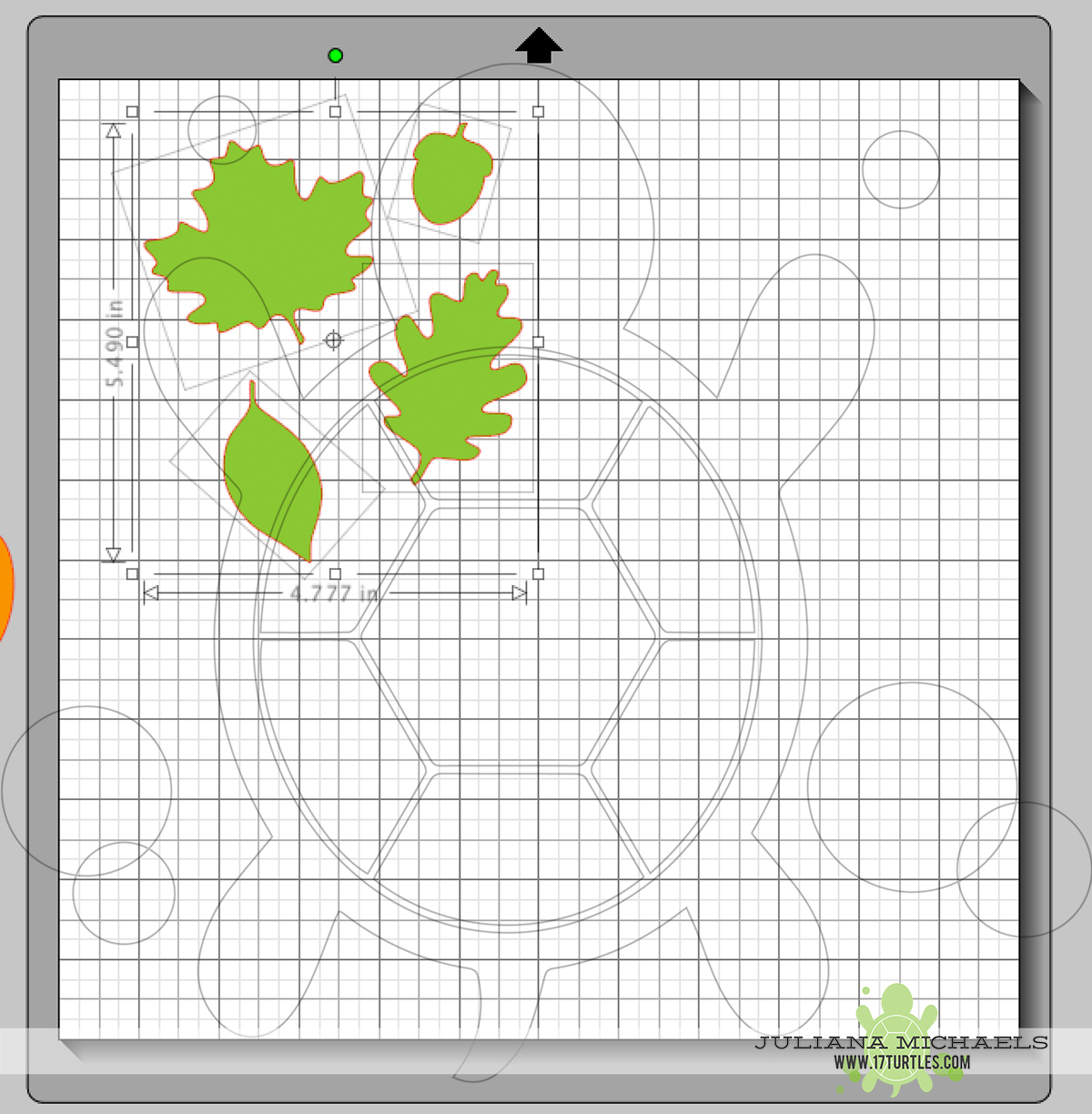 Grouping images of a Digital Cut File Leaves & Acorn by Juliana Michaels 17turtles