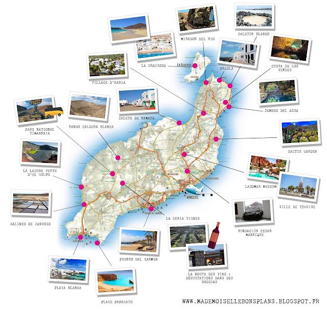 Lanzarote carte touristique