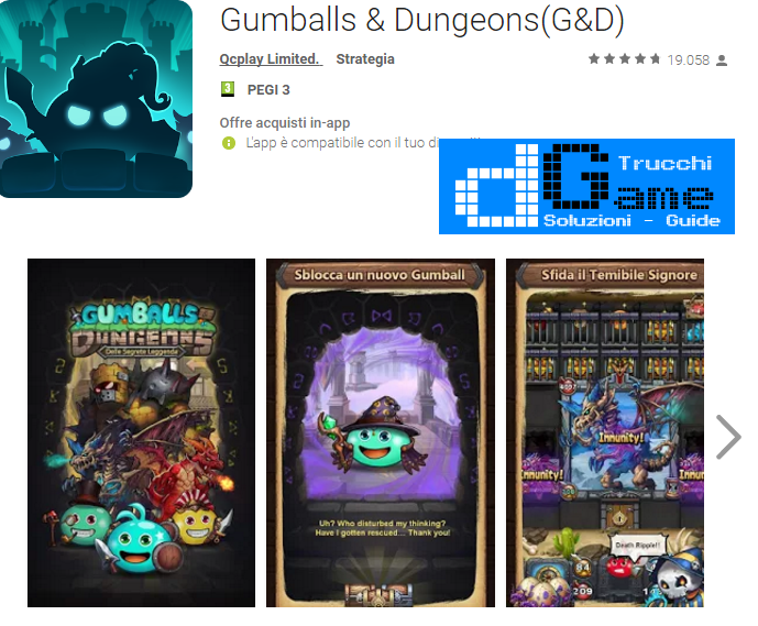 Trucchi Gumballs & Dungeons Mod Apk Android v0.27.161105.03-1.1.0