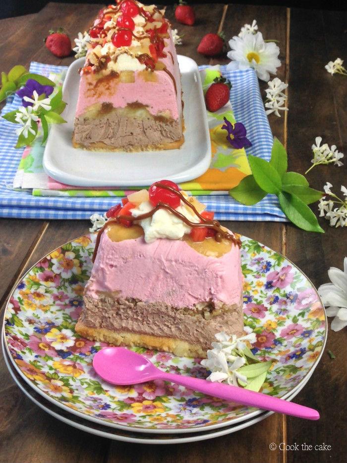 banana-split, banana-split-ice-cream-cake