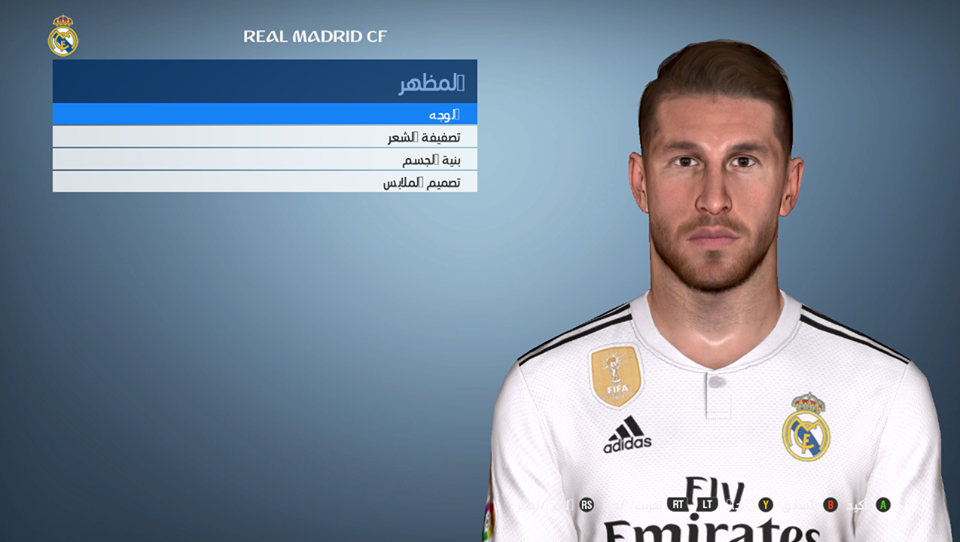 Face Sergio Ramos from FIFA 19 for PES 2017 by Shenawy