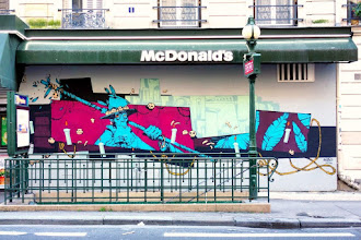 Sunday Street Art : Retro - avenue Simon Bolivar - Paris 19