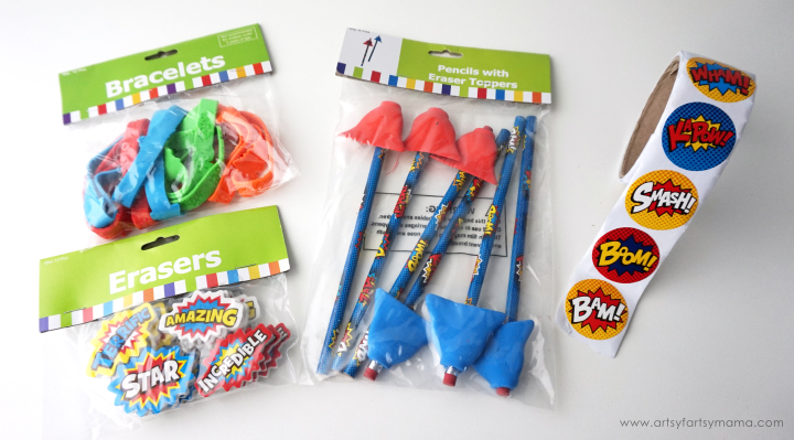 Back to School Superhero Goodie Bags with Free Printable Tags