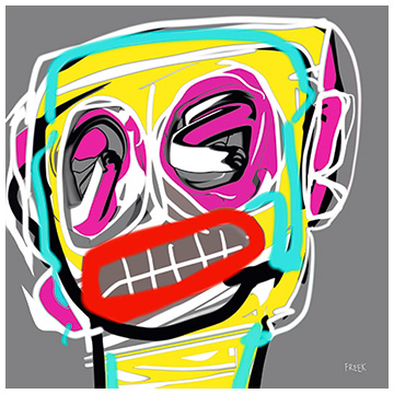art print, abstract art print, portrait art print, buy art print online, art print gallery, take me to your leader, Sam Freek,