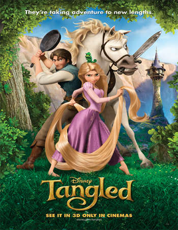 Tangled 2010 450MB BluRay Hindi Dual Audio 720p HEVC ESubs