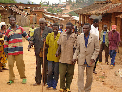 Visually impaired men in Burundi