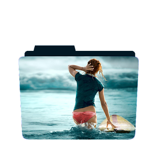 Preview of girl, surfing, beach, folder iocn