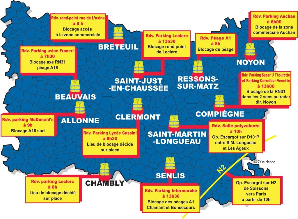 Carte Blocage 17 Novembre Bourgogne.Cartographie Numerique Comment Interpreter La Carte Des Gilets Jaunes