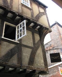 Medieval building along the Shambles, York, England