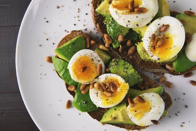 Avocado Egg Salad Topped Ezekiel Toast Recipe