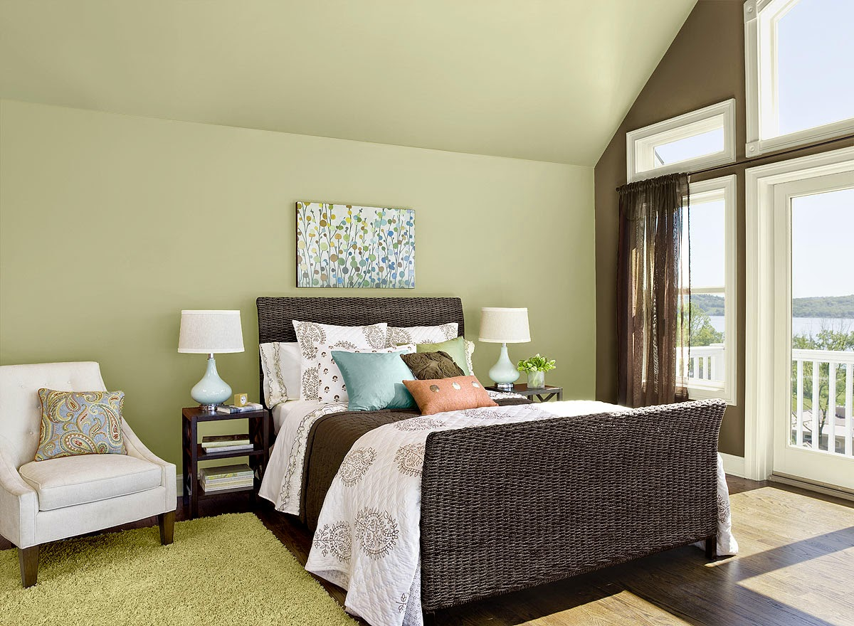 2015 color of the year guilford green postcards from Brown color bedroom