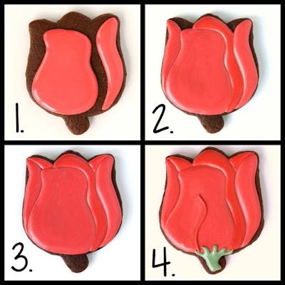 Tulip sugar cookie decorating tutorial