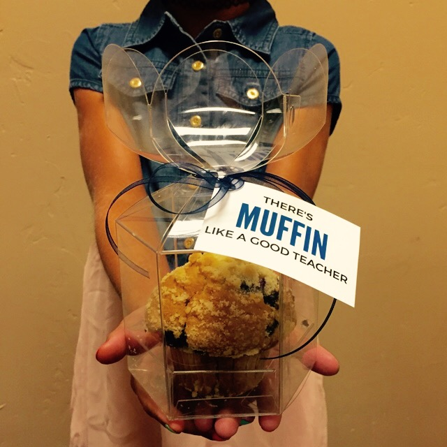 muffin like a good teacher back to school favor