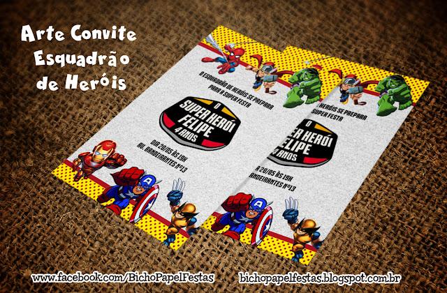 Convite Esquadrão de Heróis