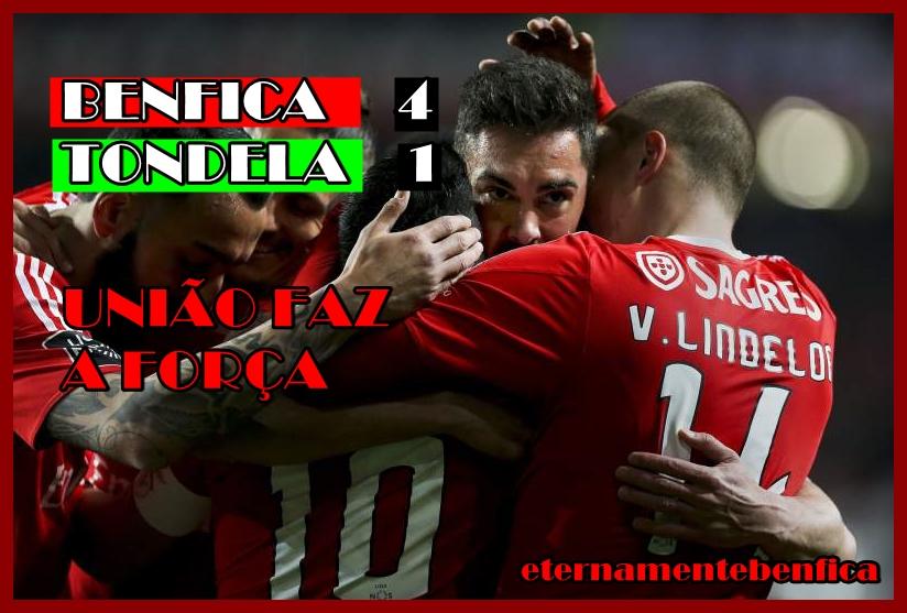 Benfica Nacional Resumo: TONDELA, 4-1 : CRÓNICA