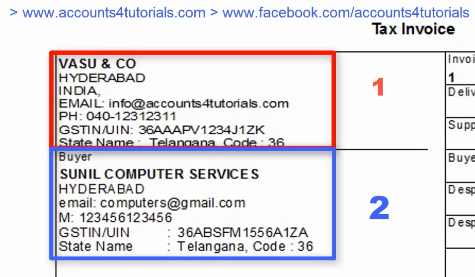 Gst Tax Invoice Format Accounting Taxation