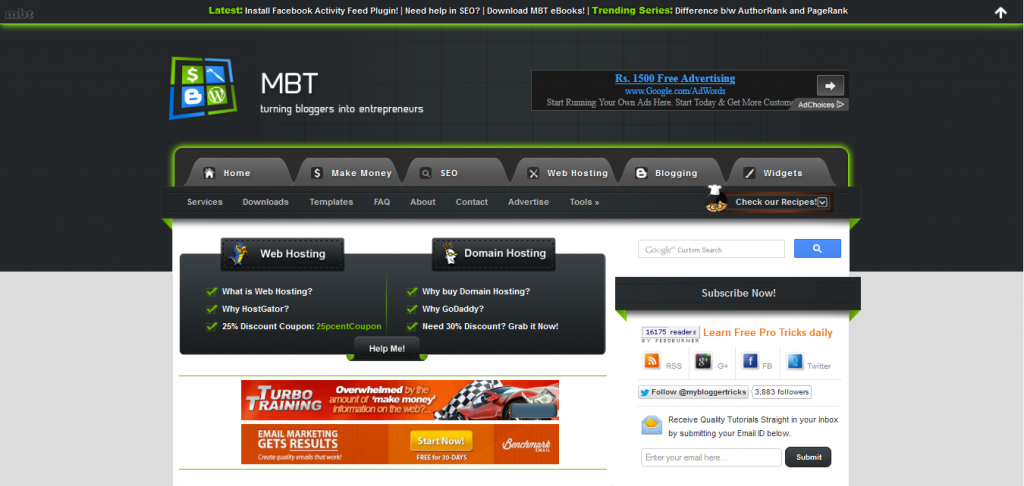 MBT Pro Template For Blogger