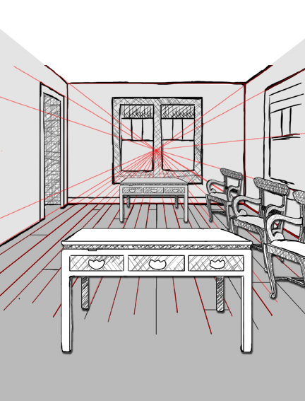 One Perspective Drawing Room: Elements Of Art: Assignment Due Wednesday, 4/3: Draw An