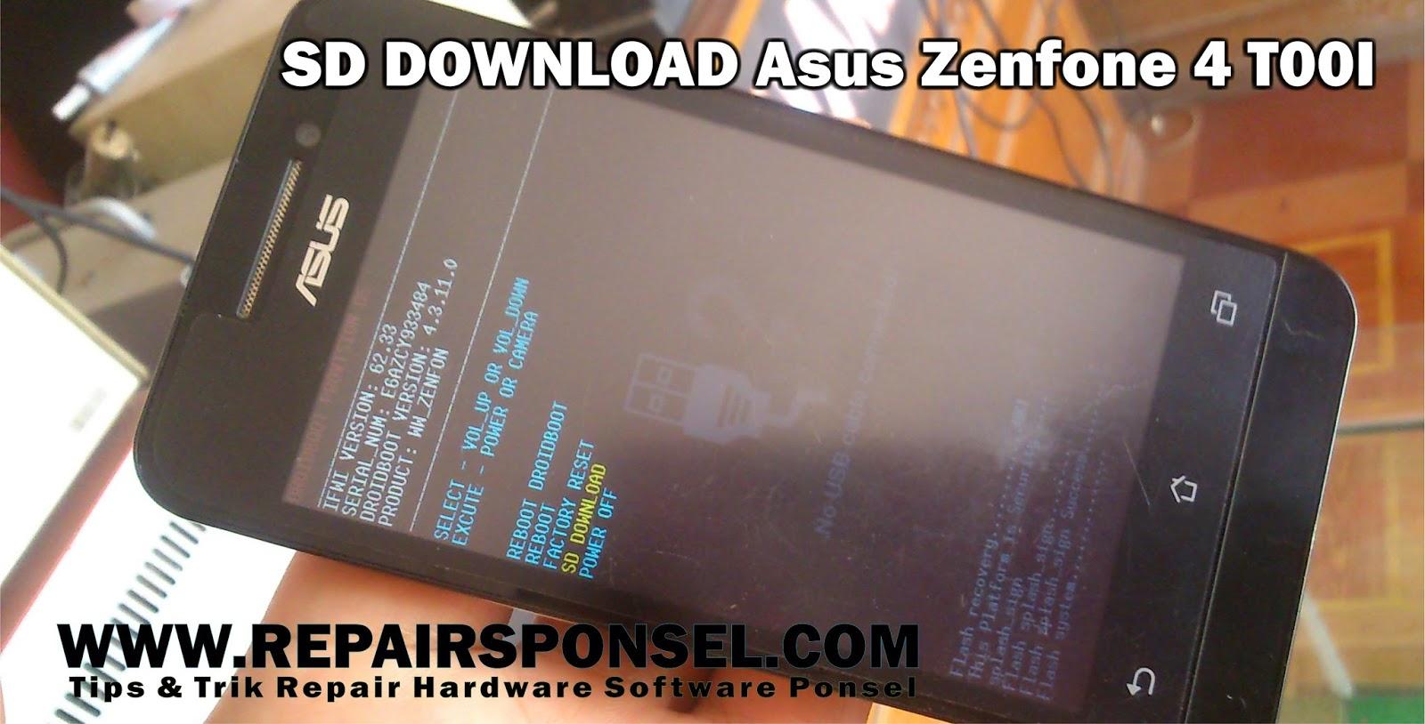 Download Firmware Asus Zenfone 4 T00I - Repairs Ponsel