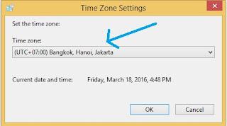 Time zone setting windows 8