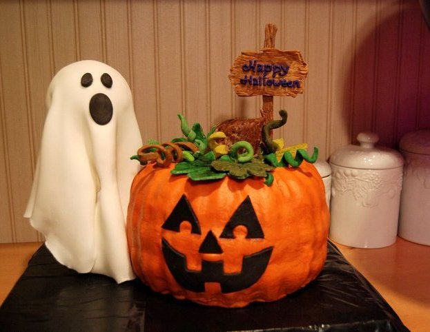 Custom Cakes By Stef Jack O Lantern Ghost Cake