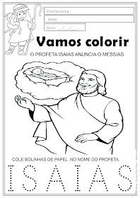 Desenho do Profeta Isaias anunciando o Messias Para Colorir