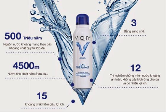 Nước khoáng dưỡng da Vichy Eau Thermale – Công dụng và cách sử dụng