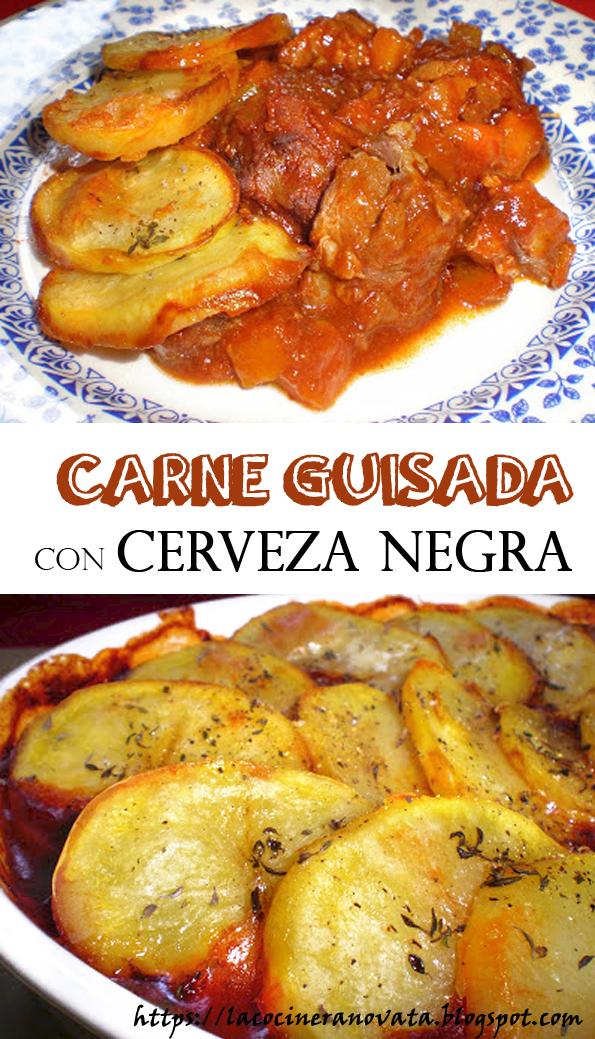 CARNE GUISADA CON CERVEZA NEGRA la cocinera novata receta cocina gastronomia patatas guiso