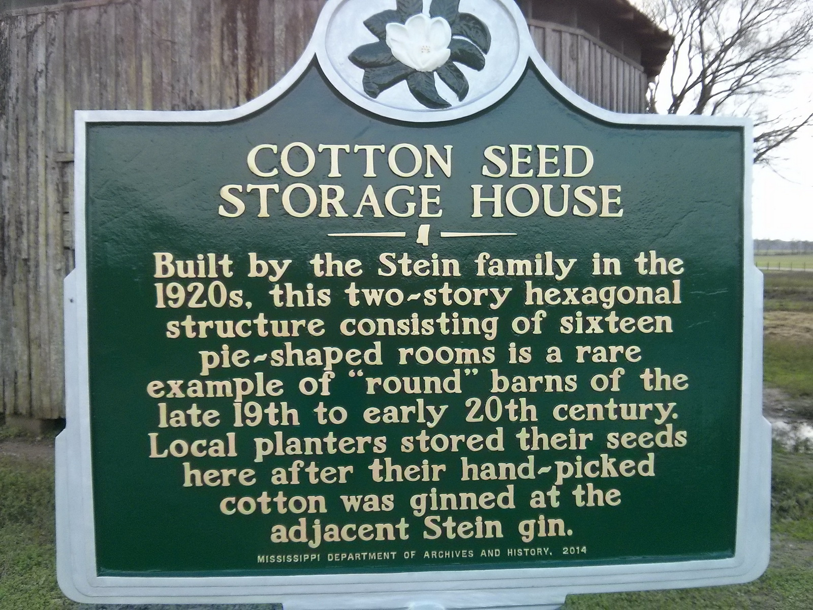 Mississippi washington county chatham - Mississippi Department Of Archives And History Has Placed A Historic Marker In Front Of The Barn