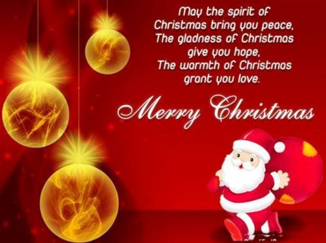 Merry Christmas Greetings Message for Facebook and Whatsapp