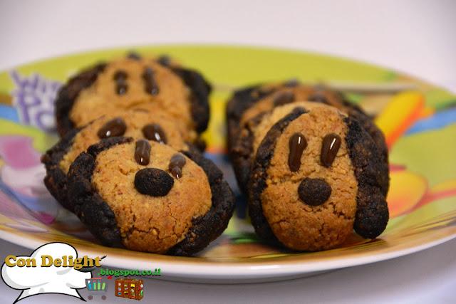 עוגיות שקדים בצורת כלב Dog shaped almond cookies