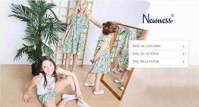 oferta de ropa para bebé de la marca Newness