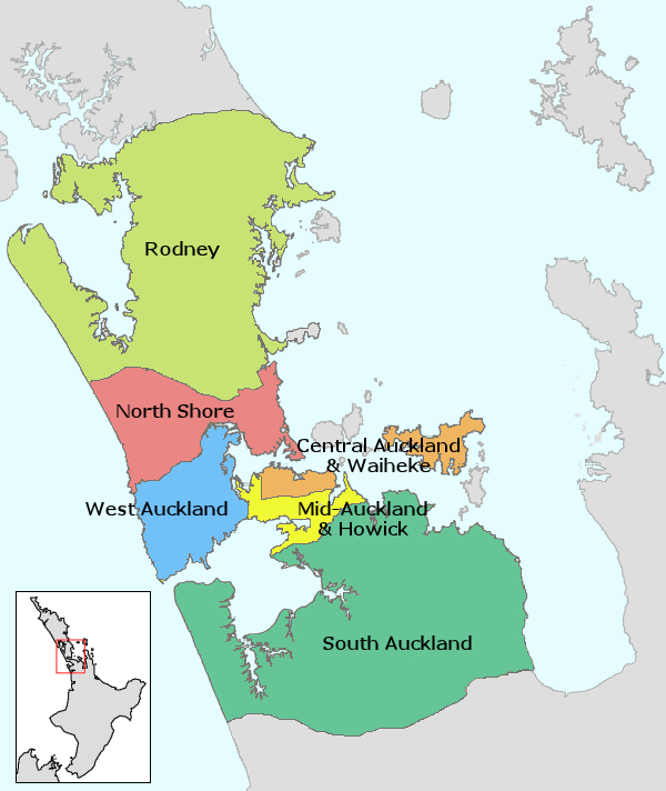 Auckland Map City Regional | Political Map of New Zealand