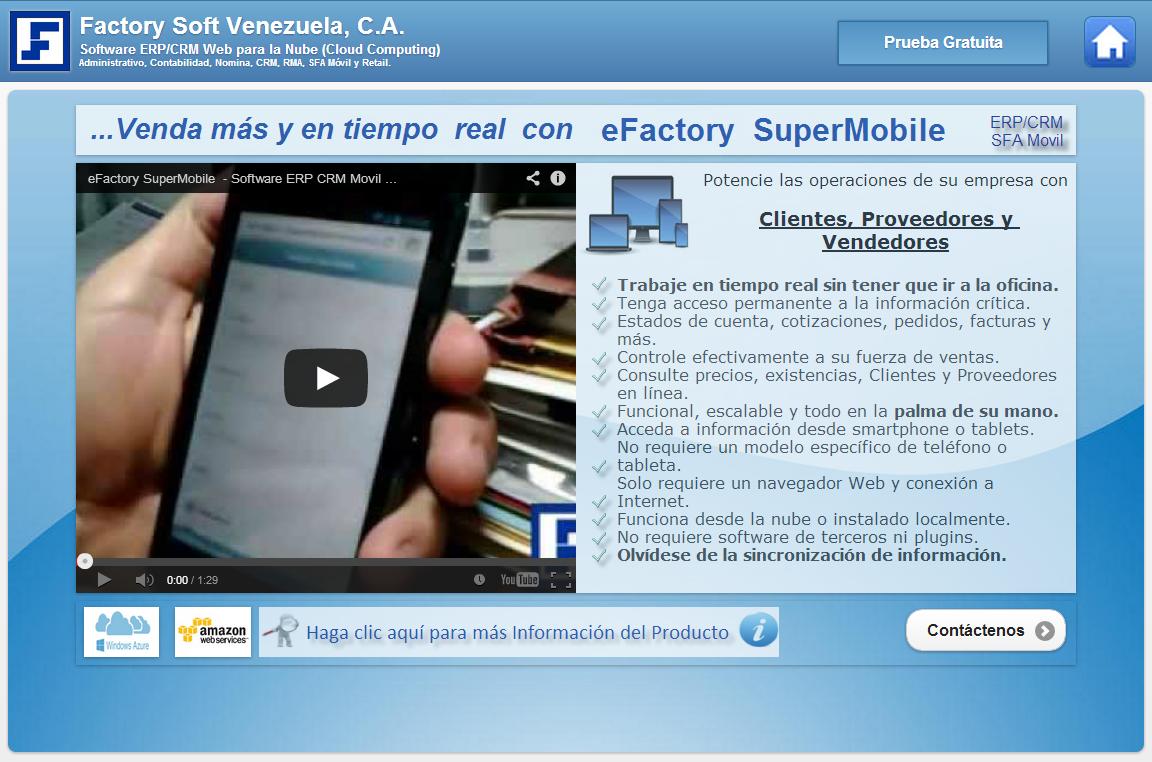 software erp/crm para la fuerza de ventas en la nube; cloud computing venezuela; erp cloud computing venezuela