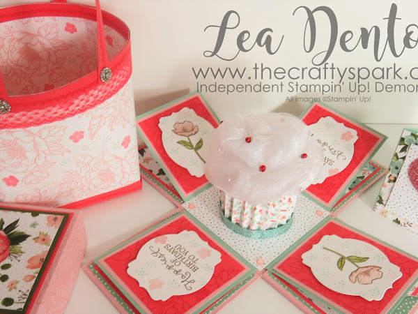 Stampin' Up! Demonstrator Lea Denton - Cupcake Exploding Box Card | part 1
