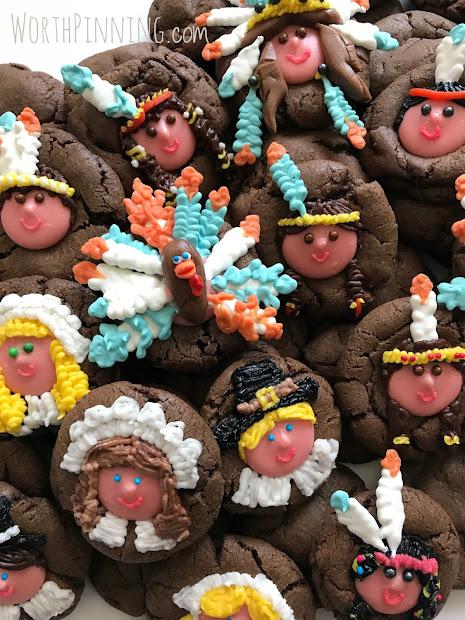 Worth Pinning Thanksgiving Cookie Set - Indians & Pilgrims