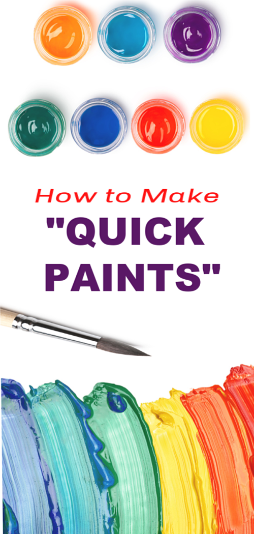 """QUICK PAINTS"" 2 ingredient paint recipe for kids #paintrecipe #paintrecipeforkids #quickpaints #quickpaint #homemadepaint #homemadepaintkids #homemadepaintrecipe #homemadepaintforkids"