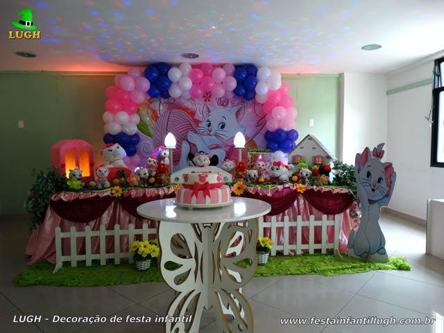 Decoração festa de aniversário infantil tema Gata Marie