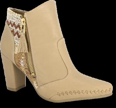 bota cano curto inverno 2016 linda elegante chique moda lançamento tendencia frio look calçado feminino  salto diferente creme estampa ramarim