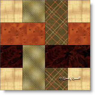 Woven Four Patch quilt block image © Wendy Russell