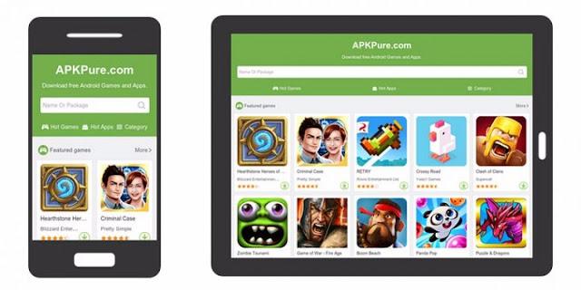 متجر APKPure أفضل بديل لجوجل بلاي لتحميل الألعاب والتطبيقات السرية و الغير متاحة في بلدك مجانا