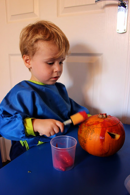 pumpkin painting art for kids