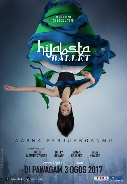 poster filem hijabsta ballet