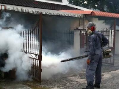 Kasus DBD Desa Bulawan, Dinkes Boltim Lakukan Fogging