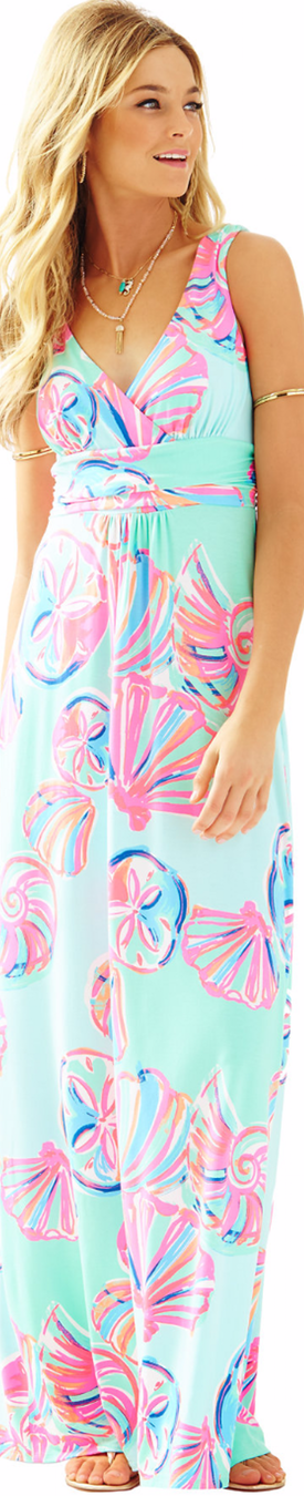 Lilly Pulitzer Sloane V-Neck Maxi Dress