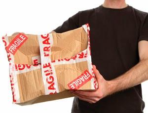 Fragile packaging carton