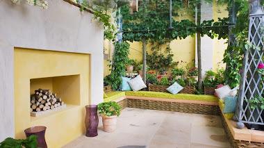 Patios y terrazas muy atractivos y vegetados