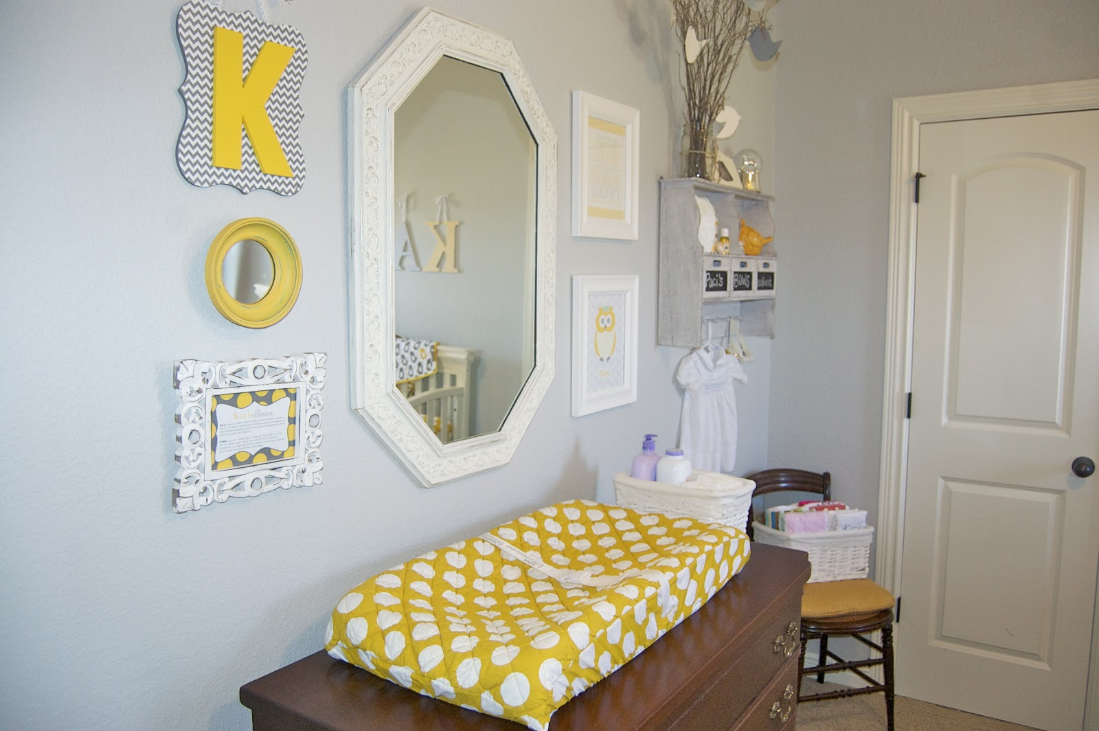Project Nursery Karis Elaine S Gray And Yellow