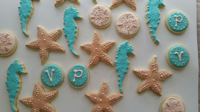 beach theme cookies favor