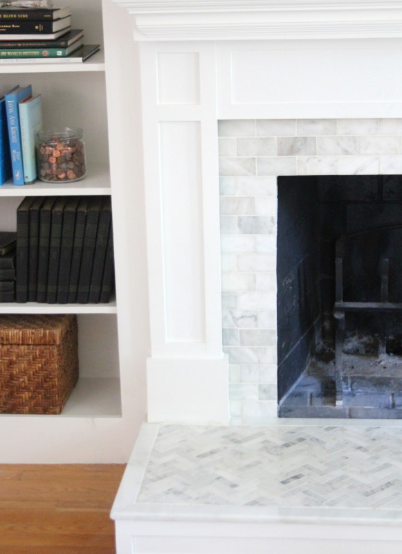 diy fireplace tile and hearth construction